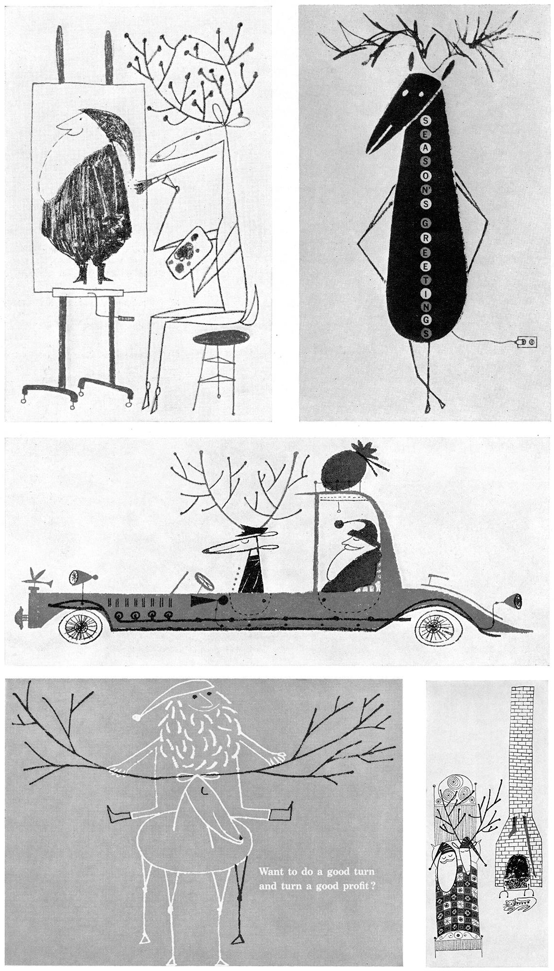 vintage weihnachtskarten. Black Bedroom Furniture Sets. Home Design Ideas