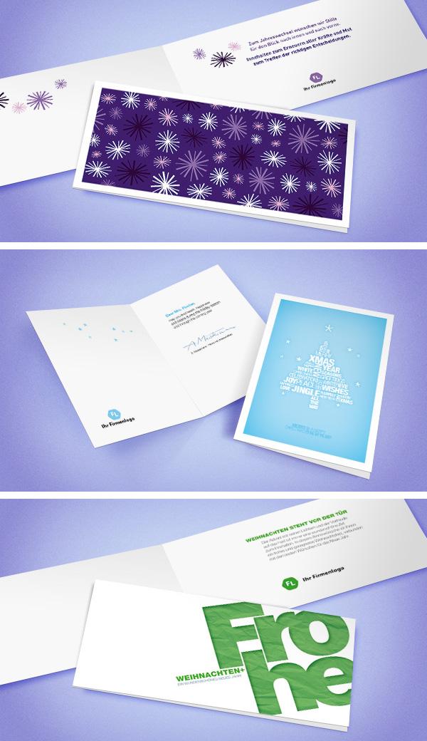 gesch ftliche weihnachtskarten mit firmenlogo. Black Bedroom Furniture Sets. Home Design Ideas