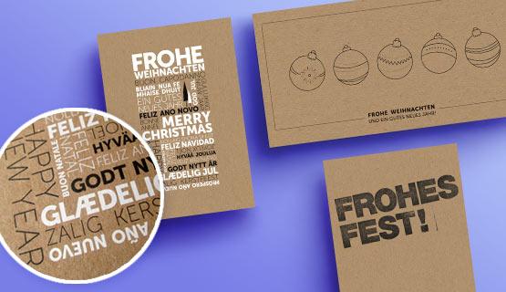 Weihnachtskarten Mit Firmenlogo.Geschäftliche Weihnachtskarten Von Eco Cards
