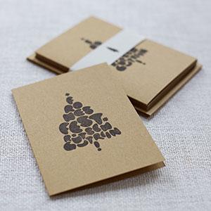 spendenkarte weihnachtskarten christbaum kl