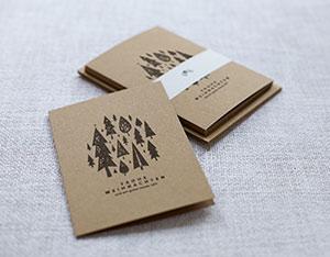 spendenkarte weihnachtskarten wald kl