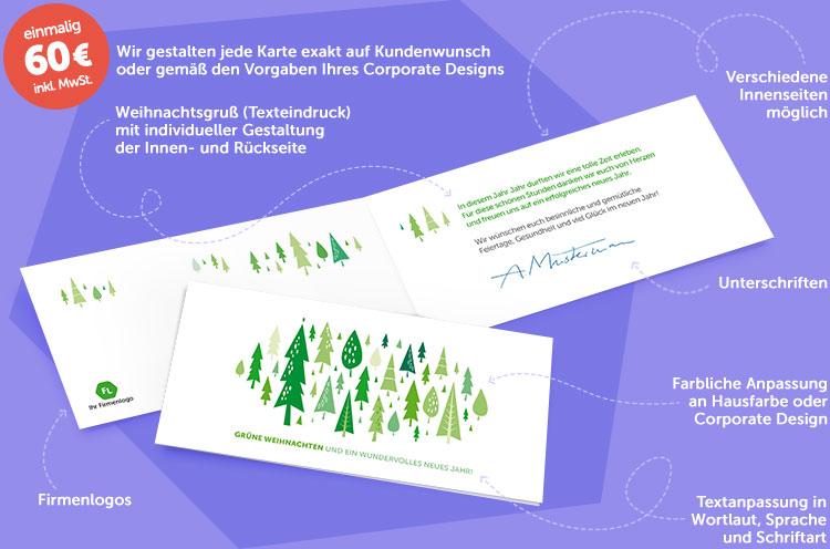 Gesch ftliche weihnachtskarten weihnachtskarte f r firmen for Weihnachtskarten personalisiert