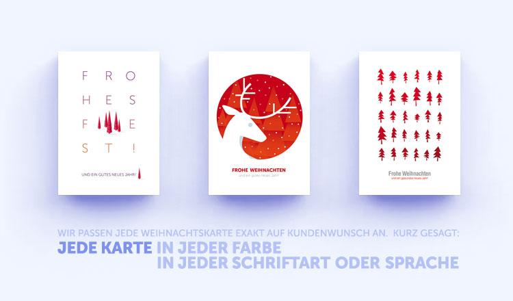 Rote Weihnachtskarten.Rote Weihnachtskarten Von Eco Cards