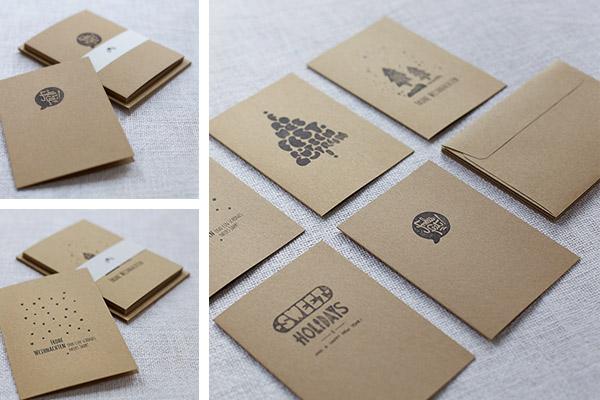 Handbedruckte weihnachtskarten im 5er set mit passenden - Weihnachtskarten online versenden ...