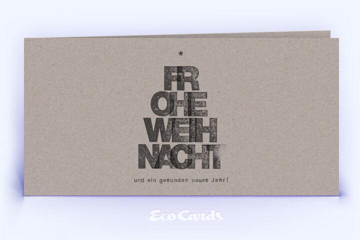 Neujahrskarte Nr. 1024 grau mit einem typografischem Layout