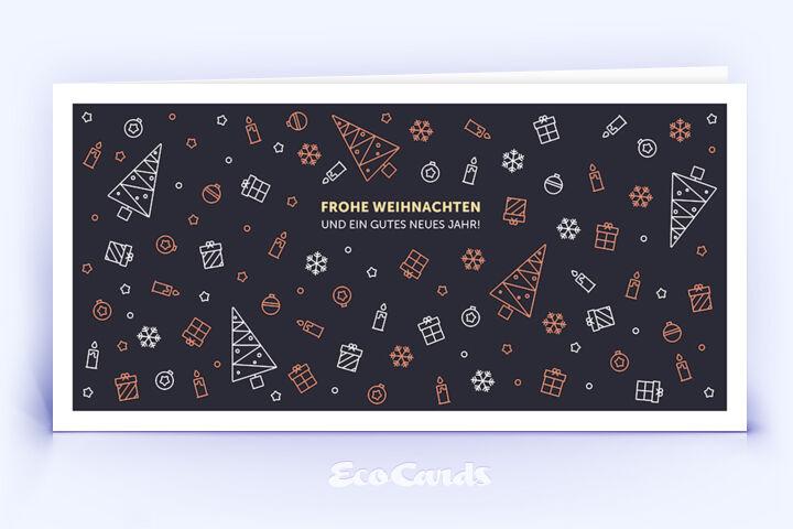 Weihnachtskarte Nr. 1104 rot mit einer weihnachtlichen Illustration