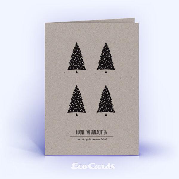 weihnachtskarten 1117 grau mit verschiedenen weihnachtsb umen. Black Bedroom Furniture Sets. Home Design Ideas
