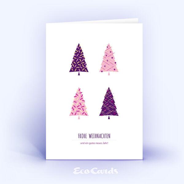 Öko Weihnachtskarten Nr. 1125 rosa mit Illustration zeigen ein ausgefallenes Motiv.