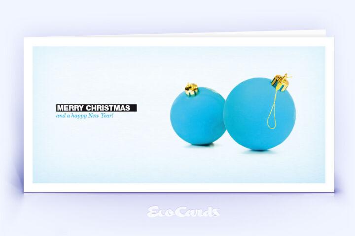 weihnachtskarte 116 hellblau mit mehreren weihnachtskugeln. Black Bedroom Furniture Sets. Home Design Ideas