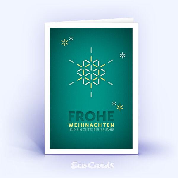 Öko Weihnachtskarten Nr. 1171 dunkelgruen mit Illustration sind mit einem modernen Kartendesign bedruckt.