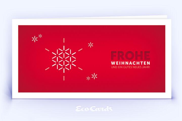 Öko Weihnachtskarte Nr. 1174 rot mit einer Illustration ist mit einem edlen Motiv bedruckt.