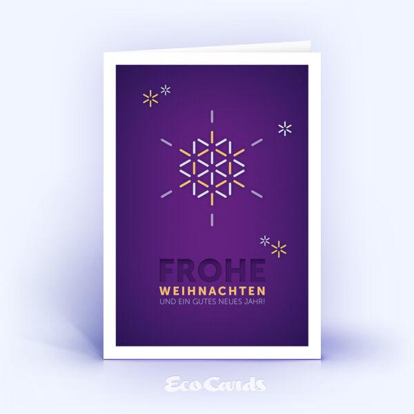 Weihnachtskarten 1177 violett zeigt Illustration