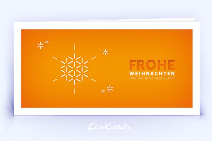 Öko Weihnachtskarte Nr. 1178 orange mit Illustration zeigt ein exklusives Kartenmotiv.