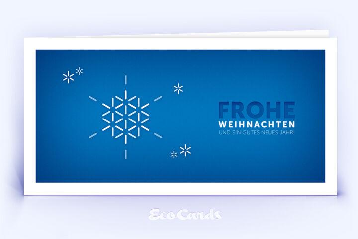 Öko Weihnachtskarte Nr. 1184 dunkelblau mit einer weihnachtlichen Illustration zeigt ein besonderes Kartenmotiv.