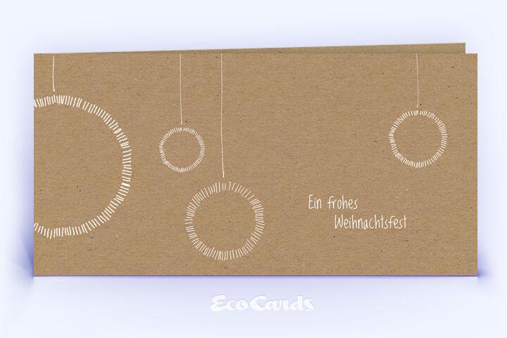 Öko Weihnachtskarte Nr. 1208 naturfarben mit einer Zeichnung ist mit einem schlichten Design versehen.