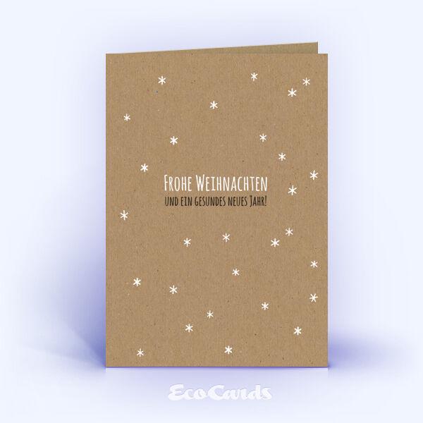 Öko Weihnachtskarten Nr. 1211 naturfarben mit einem Muster aus vielen Sternen zeigen eine besondere Gestaltung.