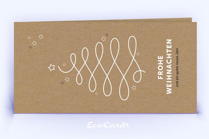 Öko Weihnachtskarte Nr. 1216 naturfarben mit Illustration ist mit einem schlichten Kartenmotiv versehen.