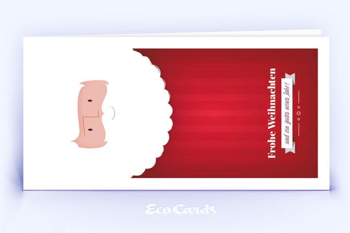 Öko Weihnachtskarte Nr. 1248 rot mit einem Weihnachtsmann zeigt ein schönes Design.