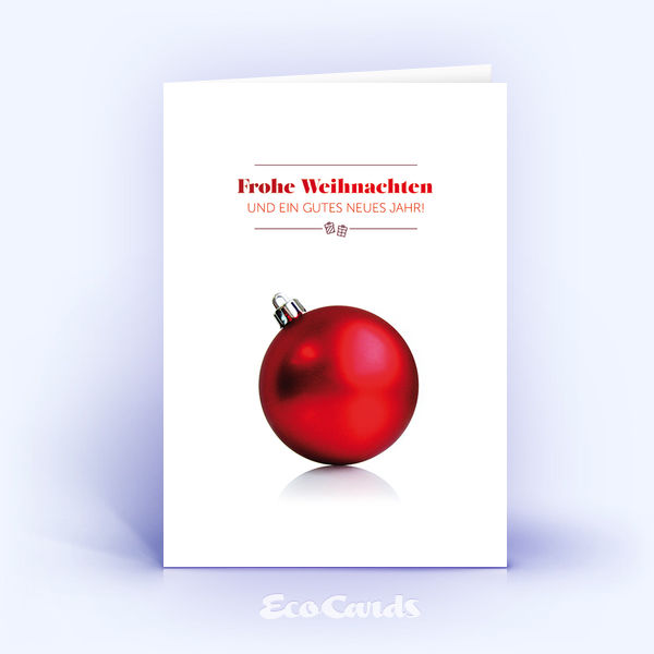 Weihnachtskarte Nr. 125 rot mit Weihnachtskugel