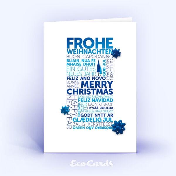 weihnachtskarten 1299 blau mit word cloud. Black Bedroom Furniture Sets. Home Design Ideas