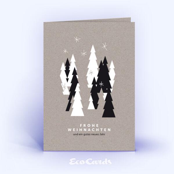 weihnachtskarten 1329 grau mit zahlreichen weihnachtsb umen. Black Bedroom Furniture Sets. Home Design Ideas