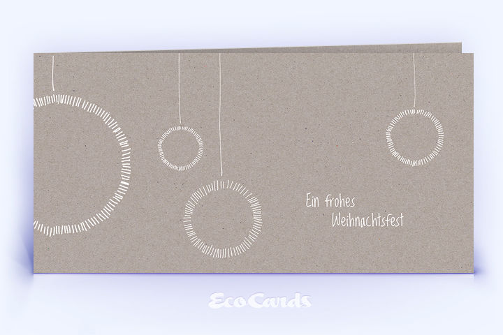 Weihnachtskarte 1330 grau mit weihnachtskugeln - Christbaumkugeln grau ...