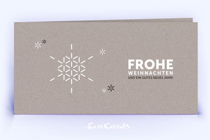 Öko Weihnachtskarte Nr. 1358 grau mit einer Illustration ist mit einem schlichten Kartendesign versehen.