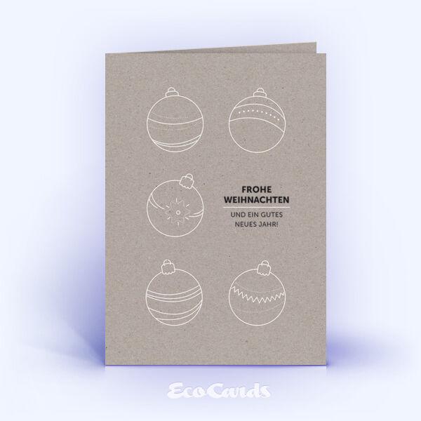Christbaumkugeln Grau.Weihnachtskarten Nr 1359