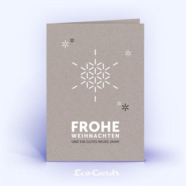 Öko Weihnachtskarten Nr. 1363 grau mit weihnachtlicher Illustration sind mit einem schlichten Design versehen.
