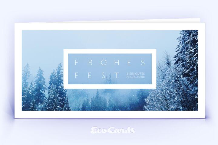 Öko Weihnachtskarte Nr. 1562 blau mit einer Fotoimpression auf der Titelseite zeigt ein individuelles Kartenmotiv.