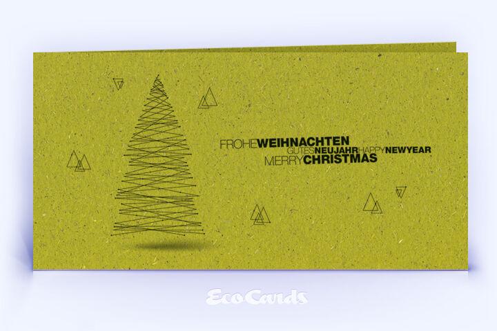 Weihnachtskarte Nr. 1568 gruen mit einem Weihnachtsbaum