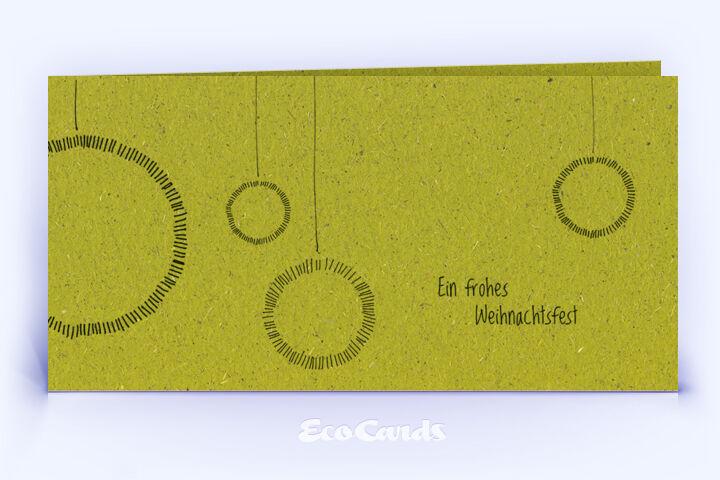 Weihnachtskarte Nr. 1606 gruen mit handgefertigter Zeichnung