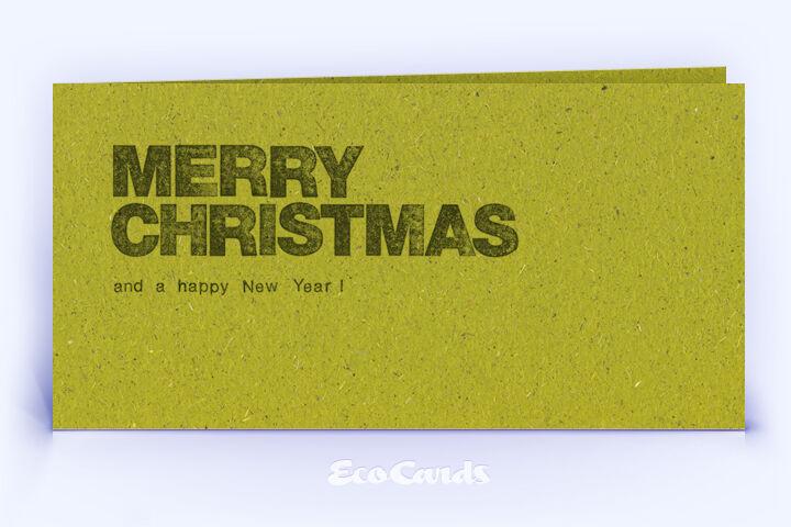 Weihnachtskarte Nr. 1630 gruen mit einem typografisch gestalteten Motiv