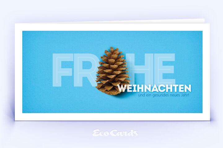 Weihnachtskarte Nr. 1660 blau mit Tannenzapfen