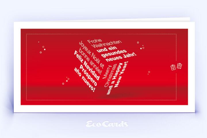 klassische weihnachtskarte mit rotem design eco. Black Bedroom Furniture Sets. Home Design Ideas