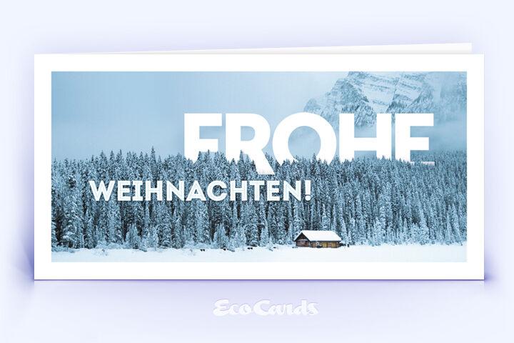 Weihnachtskarte Nr. 1696 hellblau mit einer Fotografie
