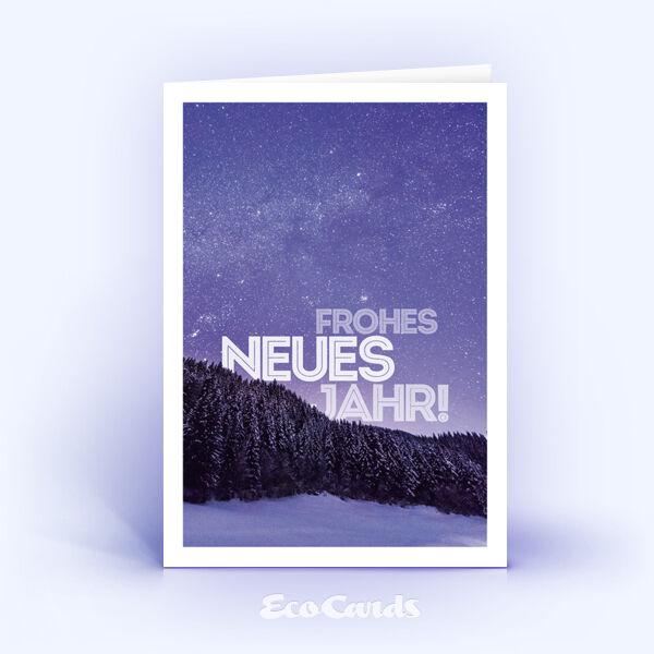 Neujahrskarte Nr. 1703 lila mit Fotoimpression