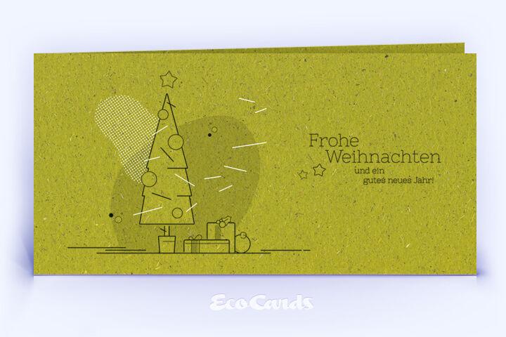 Weihnachtskarte Nr. 1746 gruen mit Weihnachtsbaum