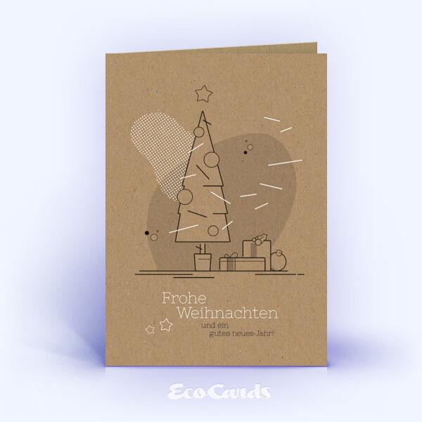 Weihnachtskarte Nr. 1751 naturfarben mit einem Weihnachtsbaum
