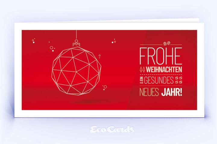 Weihnachtskarte Nr. 1758 rot mit Weihnachtskugel