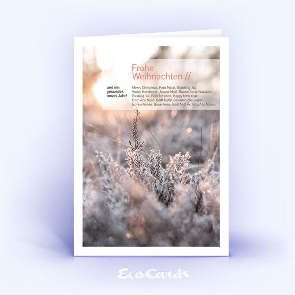 Weihnachtskarte Nr. 1801 orange mit Fotoimpression