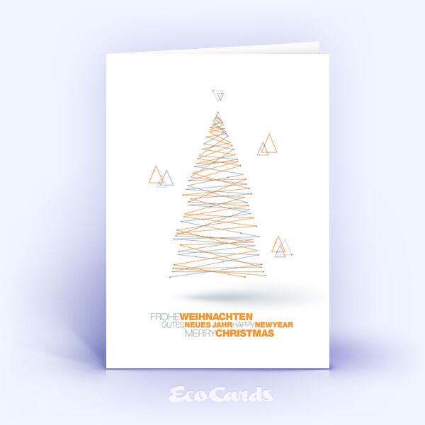 Weihnachtskarte Nr. 1825 orange mit Weihnachtsbaum
