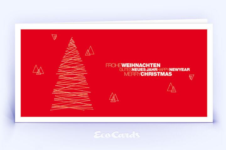Weihnachtskarte Nr. 1840 rot mit Weihnachtsbaum