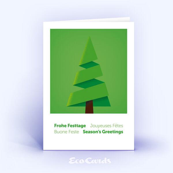 Weihnachtskarte Nr. 1861 gruen mit Weihnachtsbaum