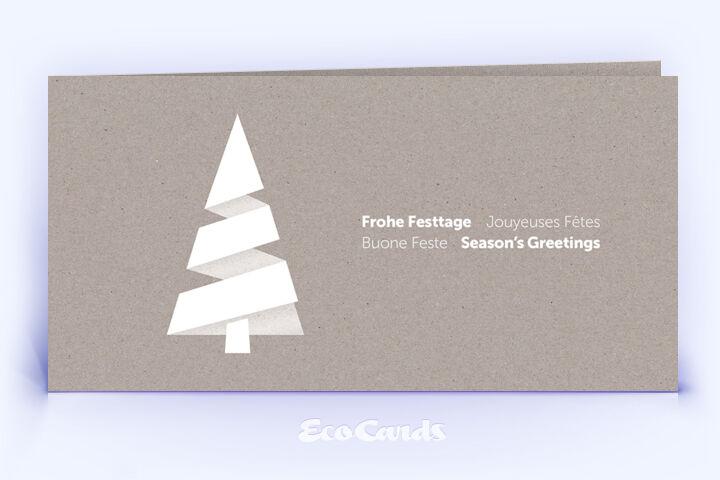Weihnachtskarte Nr. 1864 grau mit Weihnachtsbaum