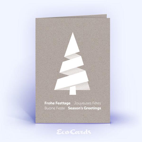 Weihnachtskarte Nr. 1865 grau mit einem Weihnachtsbaum