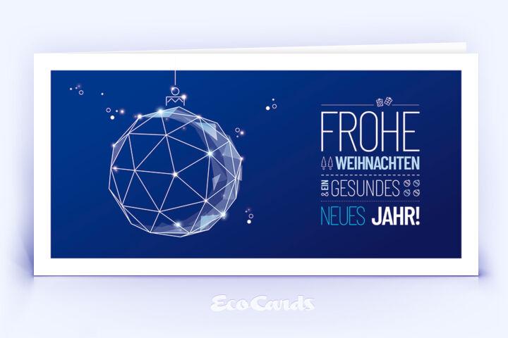 Weihnachtskarte Nr. 1872 dunkelblau mit Weihnachtskugel