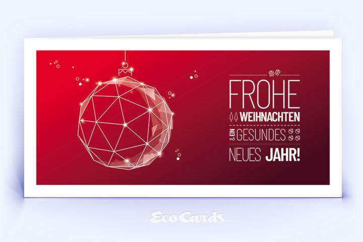 Weihnachtskarte Nr. 1874 rot mit Weihnachtskugel