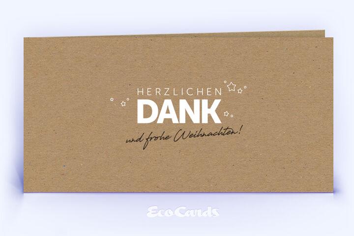 Dankeskarte Nr. 1994 braun mit einem typografisch gestalteten Motiv