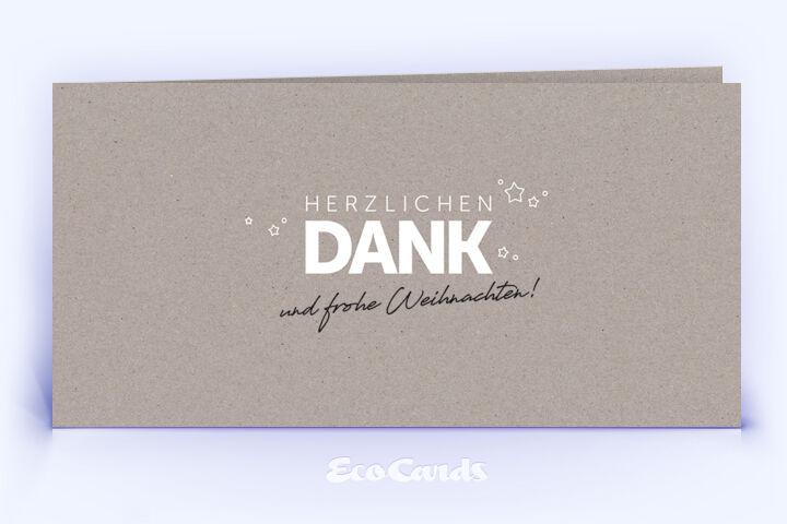 Dankeskarte Nr. 1998 grau mit einem typografischem Motiv